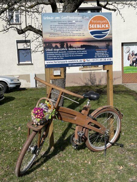 Holzdeko Rad Bike Stadl