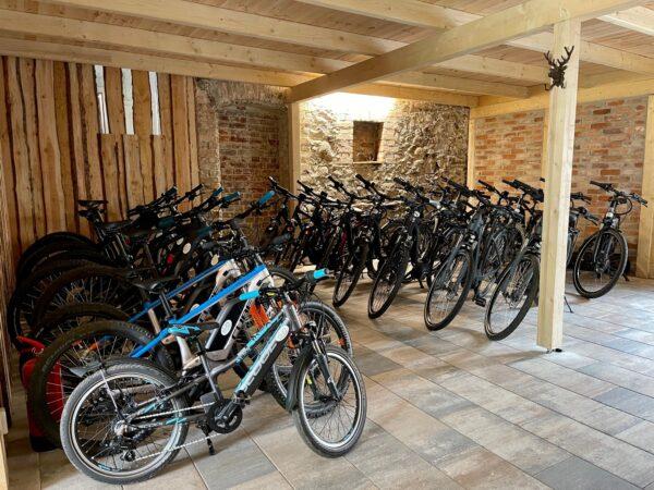 Bike Stadl E-Bikes Senftenberger See Vermietung Fahrräder Lausitzer Seenland Großkoschen 1