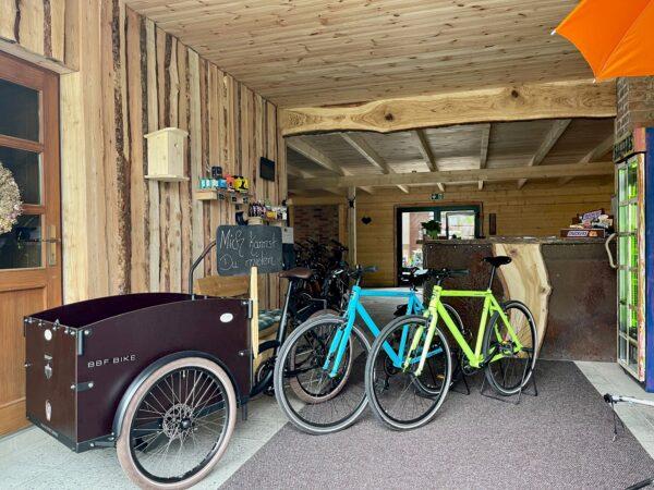 Bike Stadl E-Cargo Senftenberger See Vermietung Fahrräder Lausitzer Seenland Großkoschen 1