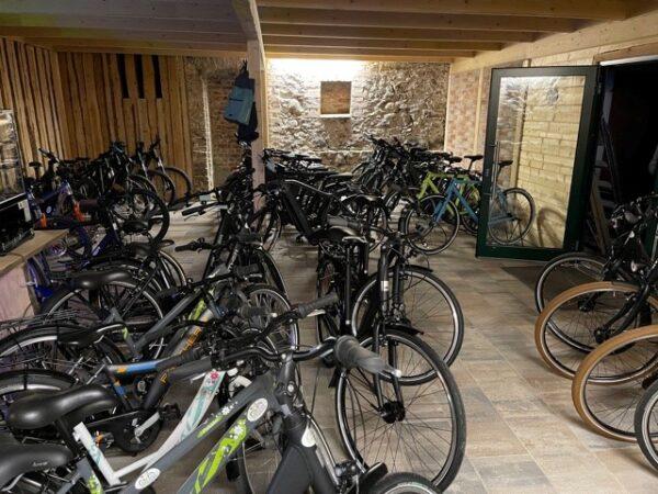 Bike Stadl Fahrradvermietung Lausitzer Seenland Senftenberger See Innenraum