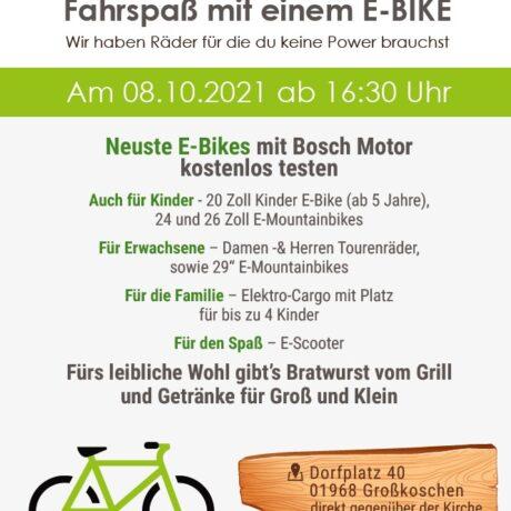 E-Bike Test-Abend am 08.10.2021